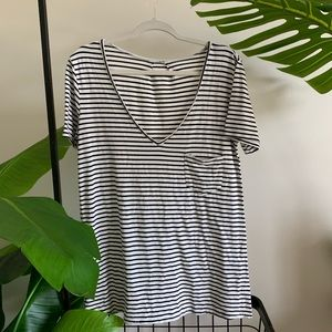 AMERICAN THREADS Striped tee